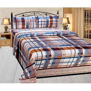 Homefab India 3d Double Bed Sheet With 2 Pillows Cover (DREAMS112)