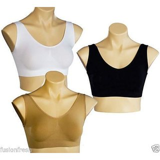 Combo Pack of 3 Ladies Air Bra Slim  Lift Sports Bra No Straps No Clips