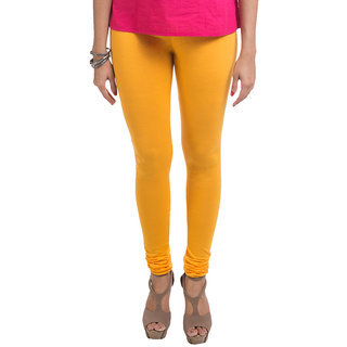 Navrachna Yellow Viscose Solid/Plain Legging