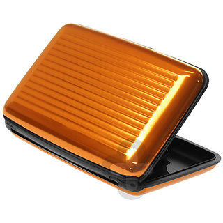 CheckSums (11125) Aluma Wallet Stylish Aluminium Card Holder- Orange