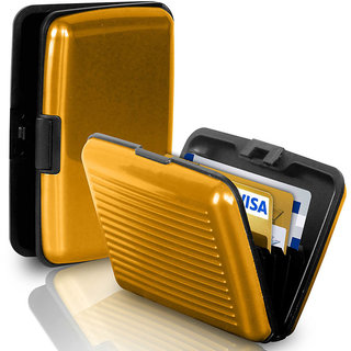CheckSums (11126) Aluma Wallet Stylish Aluminium Card Holder- Gold