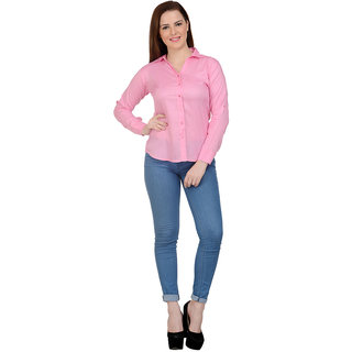 NEUVIN Formal Women Shirt Pink Shirt