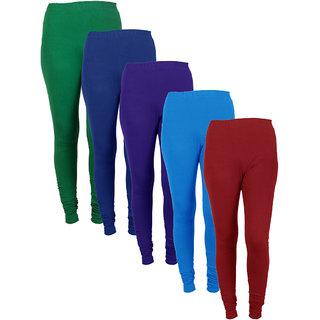 IndiWeaves Women Combo Offer (Pack of 5 Legging)