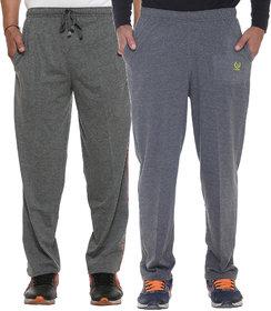 Vimal-Jonney Multicolor Cotton Trackpants For Men (Pack Of 2)