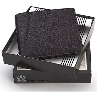 Gents Premium Quality Black Italian Leather Wallet 162
