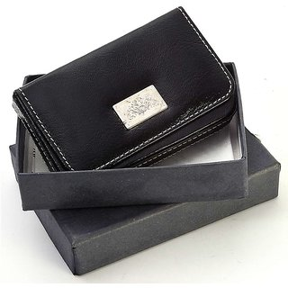 Men Pure Leather Visiting Card Credit Card Holder 186