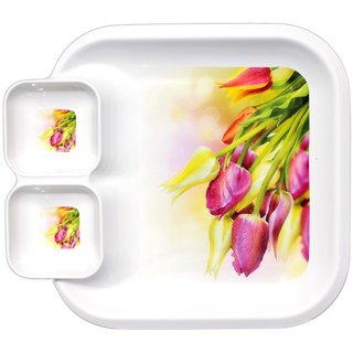 Glasified Square Dip  Eat Plate Dp - 700 (Pack Of 1)