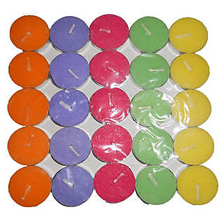 Skycandle Multicolor Tea Light Candle Pack Of 50