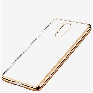 Moto G4 Plus Gold Premium Back Cover (Gold and Transparent)