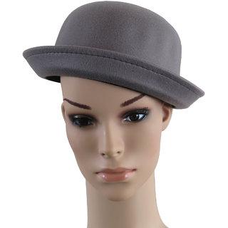 Modo Vivendi Womens Vogue Vintage Bowler Derby Trilby Fedoras Hat Ladies Autumn Winter Summer Hats (Grey)