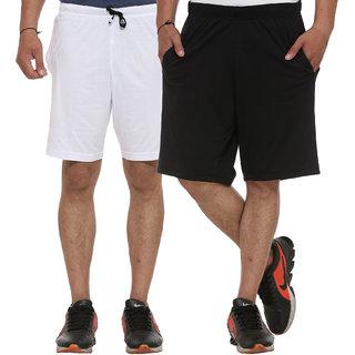 Vimal-Jonney Cotton Blended Multicolor Shorts For Men (Pack Of 2)