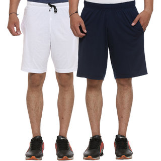 Vimal-Jonney Cotton Blended Multicolor Shorts For Men (Pack Of 2)