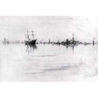 The Museum Outlet - Nocturne by Whistler - Poster Print Online Buy (30 X 40 Inch)