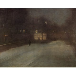 The Museum Outlet - Nocturne in grey and gold 2 by Whistler - Poster Print Online Buy (30 X 40 Inch)