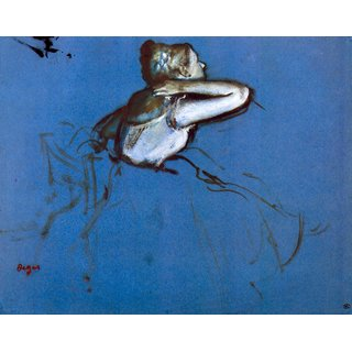 The Museum Outlet - Sitting dancer in profile with hand on her neck by Degas - Poster Print Online Buy (30 X 40 Inch)