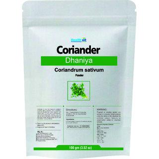 Healthvit Coriander Dhania Coriadrum sativum Powder 100gms