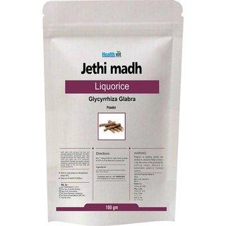 Healthvit Jethi madha Liquorice Glycyrrhiza Glabra  Powder 100gms