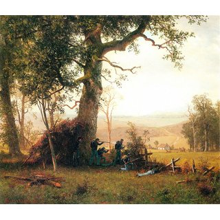 The Museum Outlet - Small war, postal service strike in Virginia by Bierstadt - Poster Print Online Buy (30 X 40 Inch)