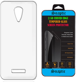 Soft Transparent Back Cover for Panasonic P65 Flash with 25D Curved HD Tempered Glass