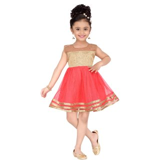 d6c73bc08 Buy Aarika Girls Self Design Net Fabric Party Wear Frock Online ...
