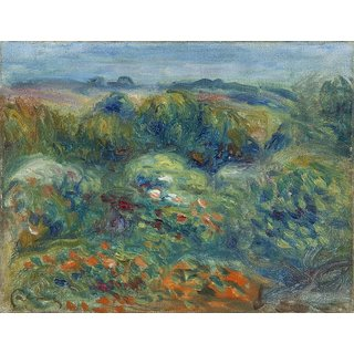 The Museum Outlet - Mountains Slope, Bushes and Flowers, 1914 - Poster Print Online Buy (30 X 40 Inch)