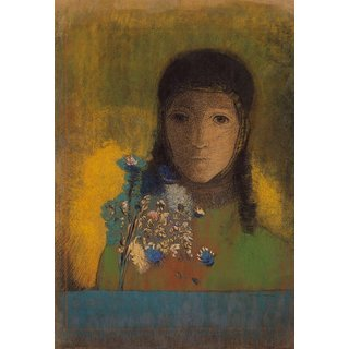 The Museum Outlet - Woman with Wildflowers, 1890-1900 - Poster Print Online Buy (30 X 40 Inch)
