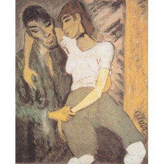 The Museum Outlet - Otto Mueller - Zigeunerliebespaar - ca1916 - Poster Print Online Buy (30 X 40 Inch)
