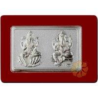 2gms Rectangular Do Murti Silver Coin By Parshwa Padmavati Gold