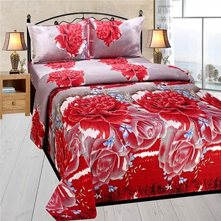Homefab India 3d Double Bed Sheet With 2 Pillows Cover (DREAMS115)