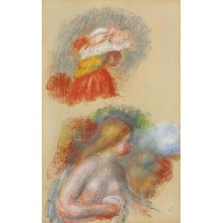 The Museum Outlet - Study of Bust and Head, 1900 - Poster Print Online Buy (30 X 40 Inch)