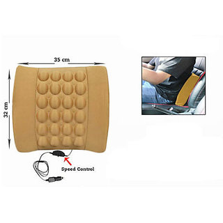 Seat Vibrating Massage Cushion Beige Colour For All Cars