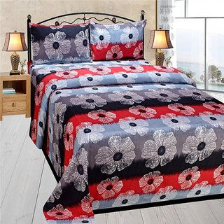 Homefab India 3d Double Bed Sheet With 2 Pillows Cover (DREAMS116)