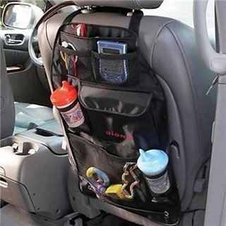 Car Back Seat Pocket - Storage Organizer Bag Color Black