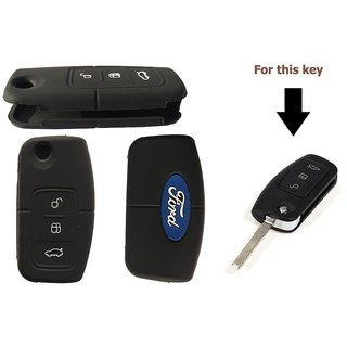 Buy Silicone Car Key Cover Smart Key Cover For Ford Ecosport Online