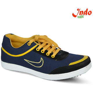 Indo Mens Blue And Yellow Casual Shoes (Premium Qaulity) (PRN0038NL)