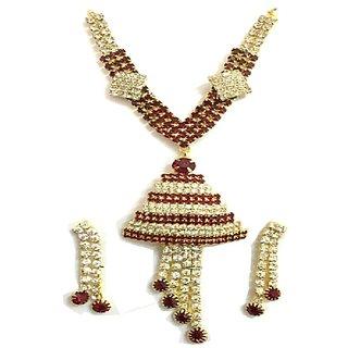 Diamonds Brown Golden Necklace Set