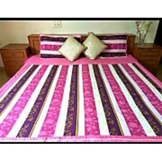 Double bedcover, bedsheet, designer bedcover, designer bedsheet, striped bedsheet, pink bedsheet