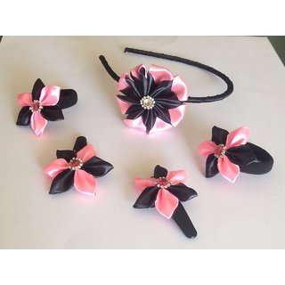 set of hairband, hairpin and hairbow