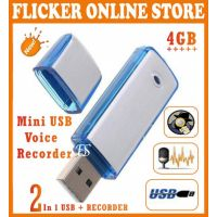 SMALLEST SIZE 4GB USB FLASH DISK WITH DIGITAL VOICE RECORDER IN THE WORLDWIDE ( 2 In 1 Flash Disk+Voice Recordder )