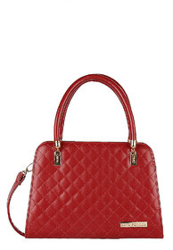 Lino Perros White Hand Bag LWHB01842RED