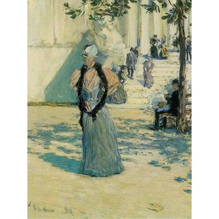 The Museum Outlet - Characters in the sunlight by Hassam - Poster Print Online Buy (24 X 32 Inch)