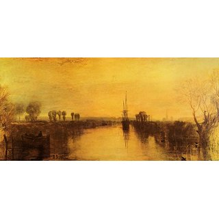 The Museum Outlet - Chichester Canal by Joseph Mallord Turner - Poster Print Online Buy (24 X 32 Inch)