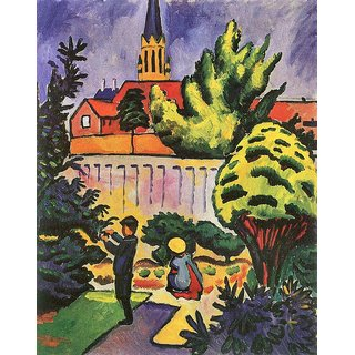 The Museum Outlet - Children in the Garden by August Macke - Poster Print Online Buy (24 X 32 Inch)