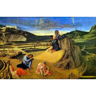 The Museum Outlet - Christ on the Mount of Olives by Bellini - Poster Print Online Buy (24 X 32 Inch)