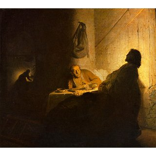 The Museum Outlet - Christus in Emmaus 2 by Rembrandt - Poster Print Online Buy (24 X 32 Inch)