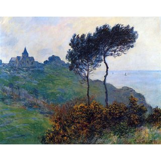 The Museum Outlet - Church at Varengeville by Monet - Poster Print Online Buy (24 X 32 Inch)