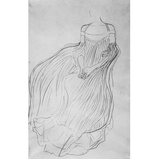 The Museum Outlet - Costume study by Klimt - Poster Print Online Buy (24 X 32 Inch)