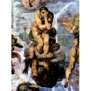 The Museum Outlet - Damned with figures of the underworld by Michelangelo - Poster Print Online Buy (24 X 32 Inch)