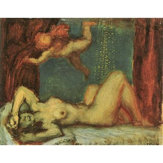 The Museum Outlet - Danae by Franz von Stuck - Poster Print Online Buy (24 X 32 Inch)