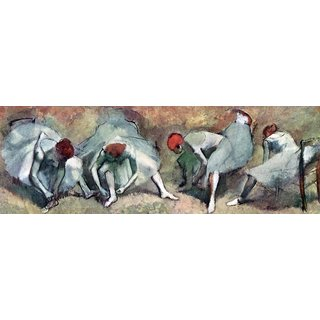 The Museum Outlet - Dancers lace their shoes by Degas - Poster Print Online Buy (24 X 32 Inch)